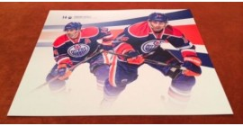 2013-14 Edmonton Oilers Team Issue Large Dual Picture Jordan Eberle Card
