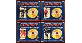 1985 O-Pee-Chee Lot of 4 different EMPTY (No stickers inside) NHL sticker packs