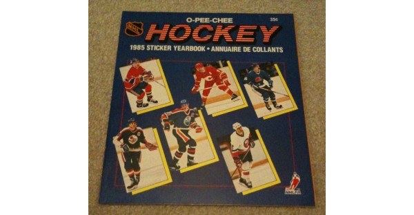 1985 O-Pee-Chee NHL Hockey Sticker Unused Album Wayne Gretzky Dale Hawerchuk Chris Chelios on Cover