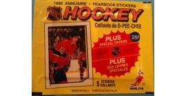 1986 O-Pee-Chee EMPTY (No stickers inside) NHL sticker pack