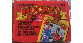 1987 O-Pee-Chee Unopened (with 5 stickers inside) NHL sticker pack