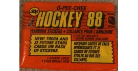 1988 O-Pee-Chee Unopened (with 5 stickers inside) NHL sticker pack