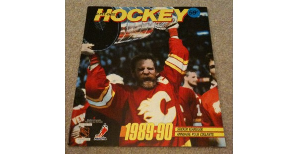 1989 O-Pee-Chee NHL Hockey Sticker Unused Album Lanny McDonald Stanley Cup on Cover