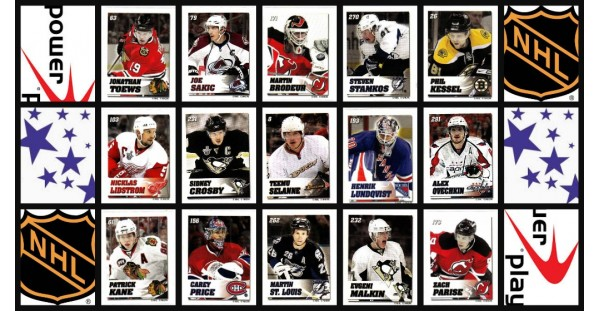 2008 Power Play Toys R Us Exclusive NHL Stickers Set of 300 (25 Panels of 12 stickers)