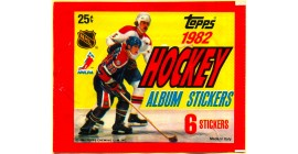 1982 Topps Unopened (with 6 stickers inside) NHL sticker pack