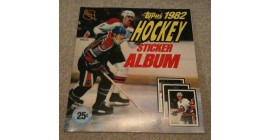 1982 TOPPS NHL Hockey Sticker Unused Album Wayne Gretzky Mike Bossy on Cover