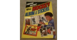 1982 1st Year Topps NHL Sticker Case Topper Poster