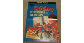 1983 2nd Year Topps NHL Sticker Case Topper Poster