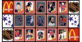 1982 McDonald's NHL Hockey Stickers Complete Set of 36