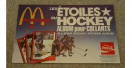 1982 McDonald's NHL Hockey Sticker Album Mike Bossy Cover