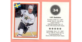 1993 Semic Sweden #34-Ulf Dahlen