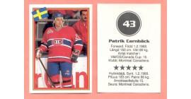 1993 Semic Sweden #43-Patrik Carnback