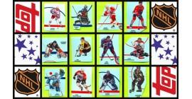 1997 Topps NHL Hockey Sticker Set of 85 (5 Panels)