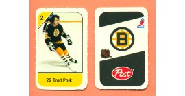 1982 Post Mini Cards #9-Brad Park