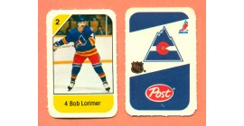 1982 Post Mini Cards #137-Bob Lormier