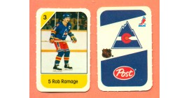 1982 Post Mini Cards #138-Rob Ramage