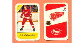1982 Post Mini Cards #145-Jim Schoenfeld