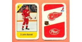 1982 Post Mini Cards #153-John Barrett