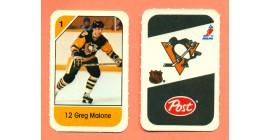 1982 Post Mini Cards #165-Greg Malone