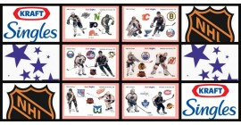 1989 Kraft Singles NHL Hockey Stickers Complete Set of 12