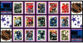 1996 Pro Stamps NHL Hockey Sticker Set of 130 (12 Panels)
