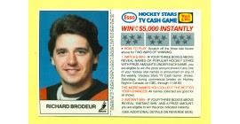 1983 Esso Cards #4-Richard Brodeur