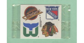 1988 Post #1- Canucks Rangers Whalers Blackhawks Logo