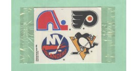 1988 Post #6- Nordiques Flyers Islanders Penguins Logo