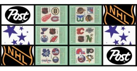 1988 Post Cereal NHL Logos Hockey Stickers Complete Set of 6 Panels